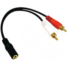 RCA AUDIO 3.5mm Adapter 3ft